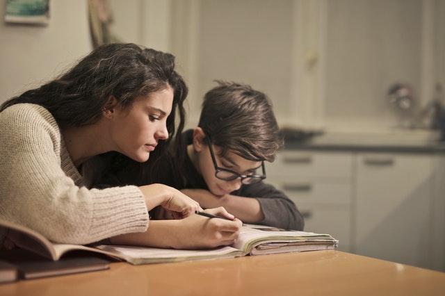 concentrating on homework